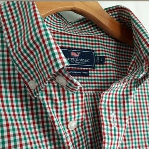 Vineyard Vines Slim Fit Whale Shirt Mini Chk Sz L